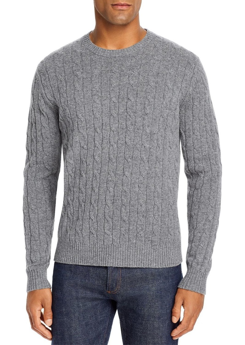 Brooks Brothers Cable Knit Wool Crewneck Sweater