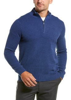 Brooks Brothers Cashmere-Blend 1/2-Zip Mock Sweater