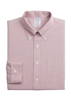 Brooks Brothers Checked Wrinkle-Free Dress Shirt