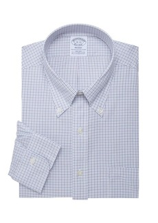 Brooks Brothers Checkered Button-Front Dress Shirt