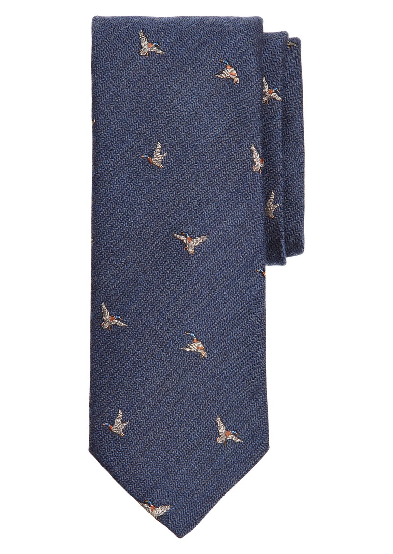 Brooks Brothers Chevron Geese Wool & Silk Tie
