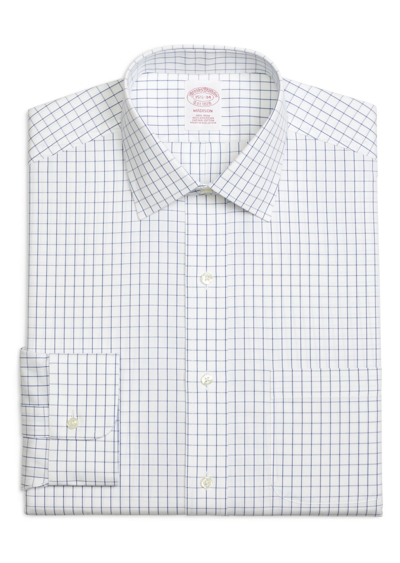 Brooks Brothers Madison Classic Fit Check Dress Shirt (3 for $207)