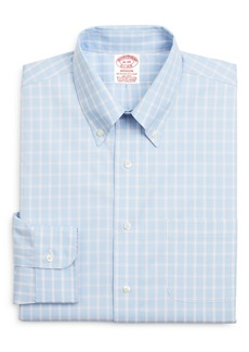 Brooks Brothers Madison Classic Fit Stretch Plaid Dress Shirt