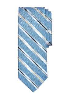 Brooks Brothers Double Track Stripes Silk Classic Tie