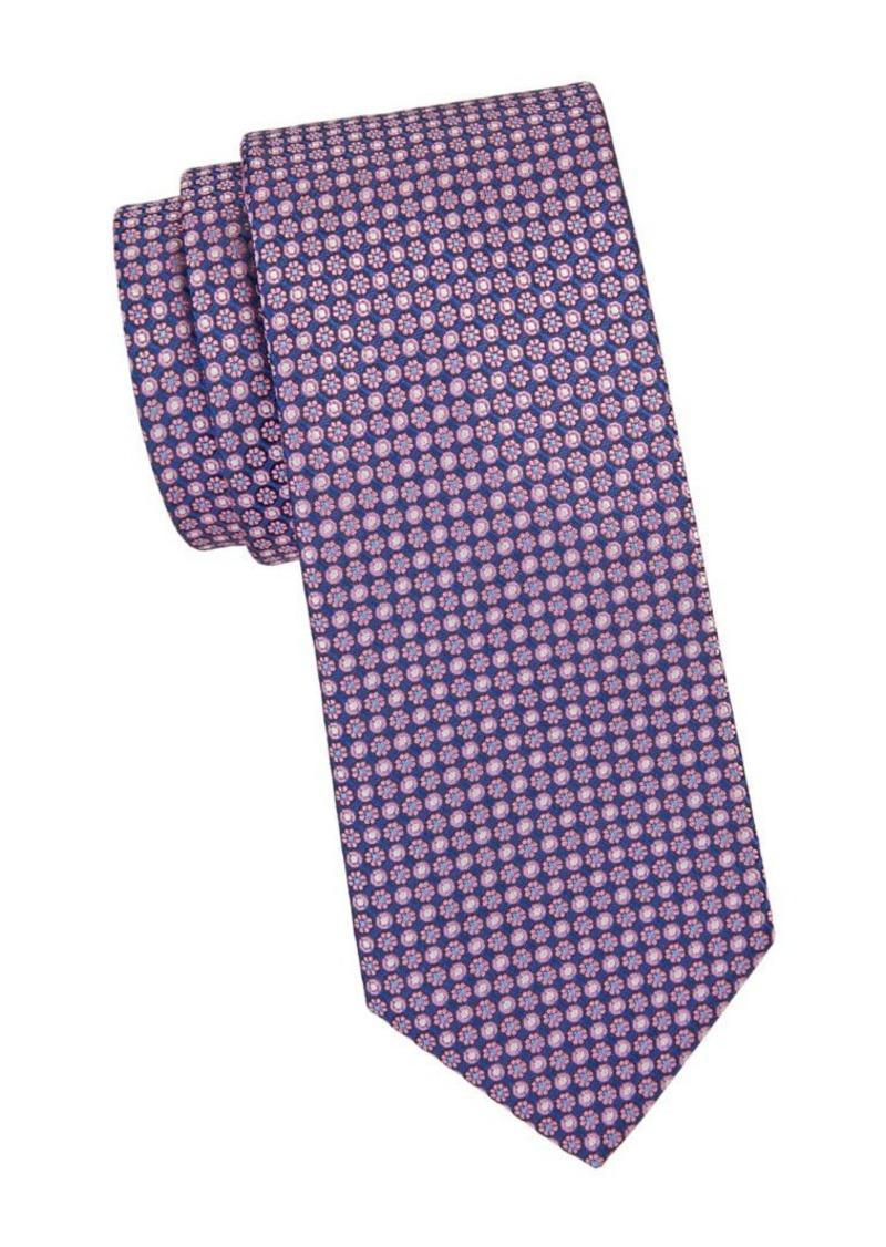 Brooks Brothers Floral & Dot-Print Silk Tie