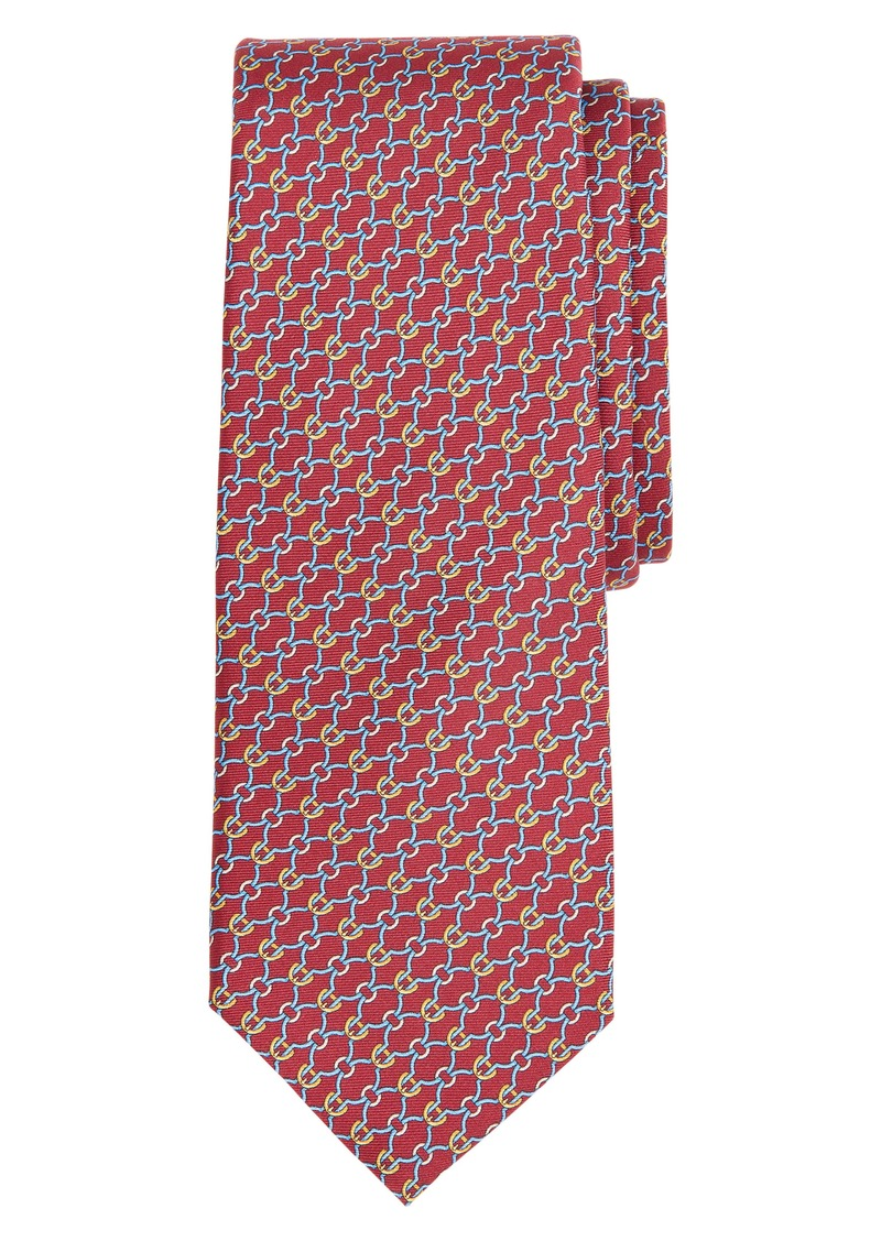 Brooks Brothers Geometric Links Silk Tie