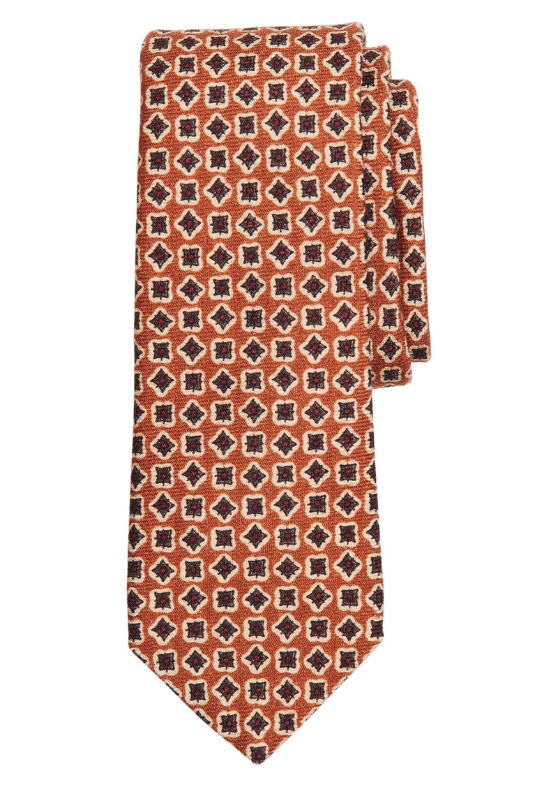 Brooks Brothers Geometric Wool X-Long Tie