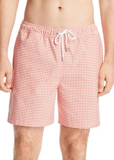 Brooks Brothers Gingham Montauk Swim Trunks
