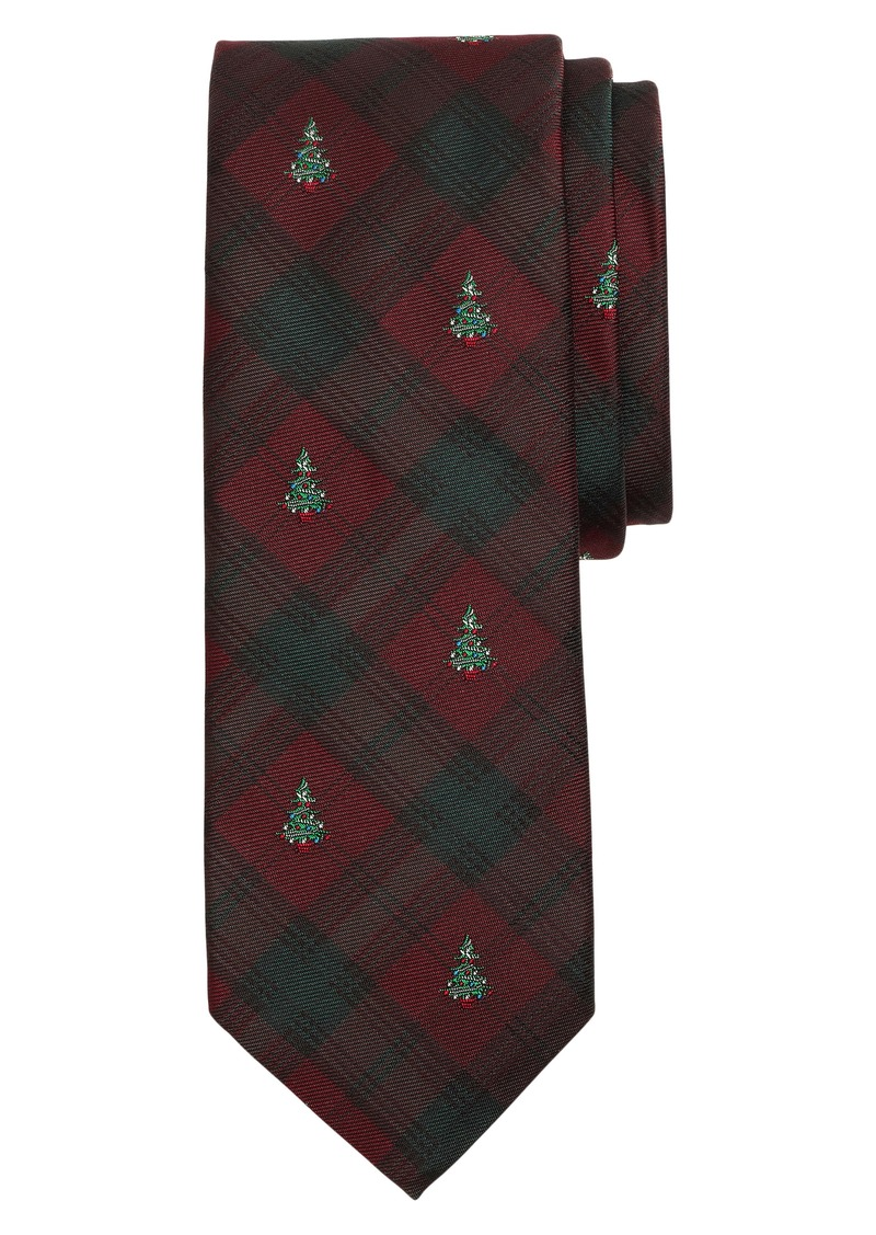 Brooks Brothers Holiday Tree Silk Tie