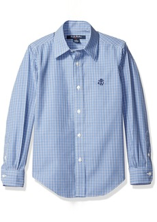 Brooks Brothers Boys' Little Non Iron Mini Check Sport Shirt  S