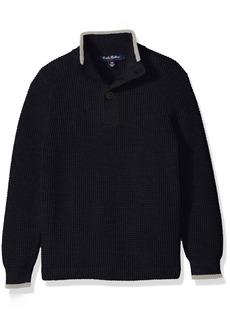 Brooks Brothers Little Boys' Supima Waffle Mock Neck Sweater