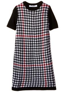 Brooks Brothers Little Girls' Merino Blend Jaquard Sweater Dress