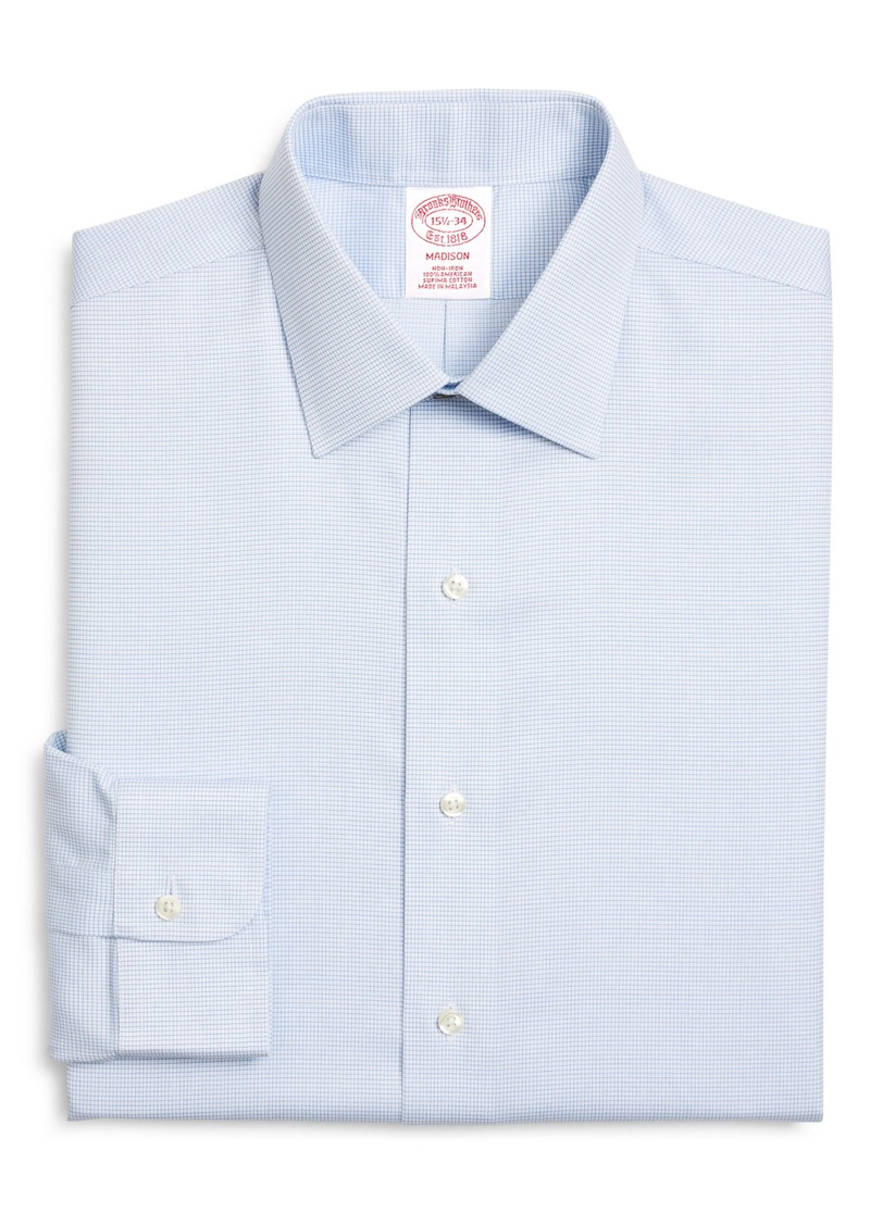 Brooks Brothers Madison Classic Fit Non-Iron Check Dress Shirt (Any 3 for $207)