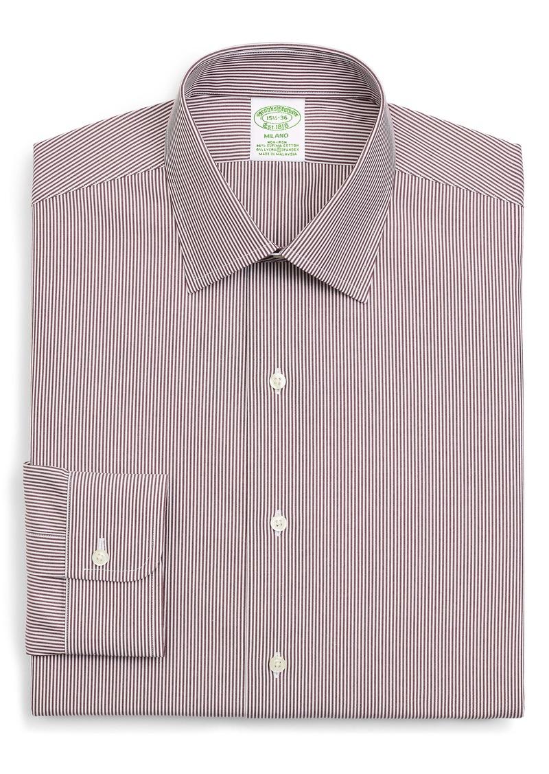Brooks Brothers Madison Trim Fit Stripe Dress Shirt