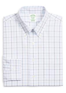 Brooks Brothers Madison Trim Fit Windowpane Dress Shirt