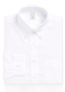 Brooks Brothers Men's Milano Extra-Slim Fit Non-Iron Pinpoint Solid Dress Shirt