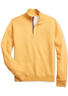 Brooks Brothers Brooks Brother's Men's Red Fleece Knit Half-Zip Sweater