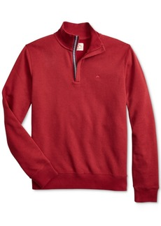 Brooks Brothers Brooks Brother's Men's Red Fleece Knit Quarter-Zip Sweater