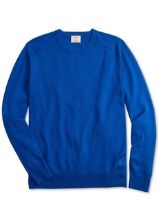 Brooks Brothers Men's Red Fleece Merino Wool Sweater