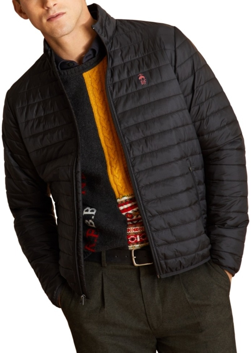 Brooks Brothers Men's Red Fleece Quilted Puffer Jacket
