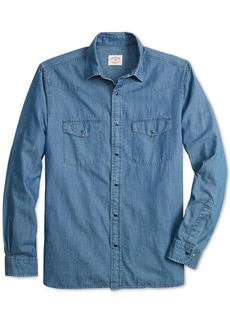Brooks Brothers Red Fleece Men's Slim-Fit Chambray Western Shirt