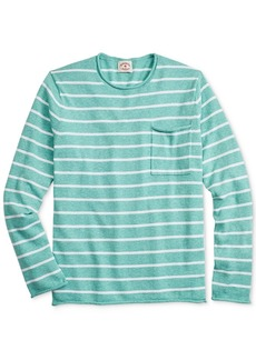 Brooks Brothers Men's Red Fleece Stripe Sweater