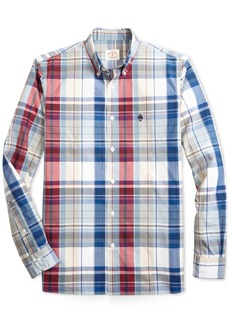 Brooks Brothers Men's Slim-Fit Yarn Dyed Check Shirt