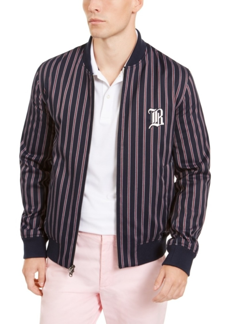 Brooks Brothers Men's Striped Bomber Jacket