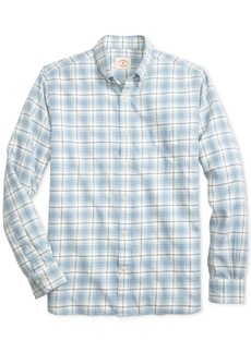 Brooks Brothers Men's Summer Twill Slim-Fit Plaid Cotton Shirt
