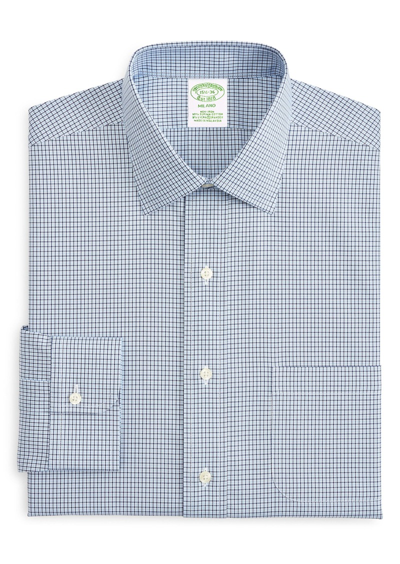 Brooks Brothers Milano Trim Fit Check Dress Shirt
