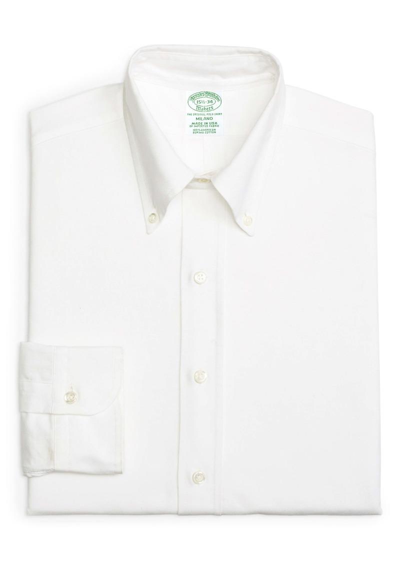 Brooks Brothers Milano Slim Fit Solid Dress Shirt