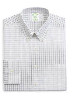 Brooks Brothers Milano Trim Fit Stretch Windowpane Dress Shirt