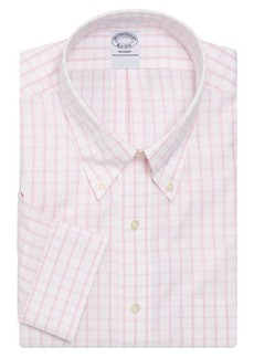 Brooks Brothers Non-Iron Windowpane Check Dress Shirt