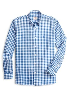 Brooks Brothers Red Fleece Broadcloth Gingham Button-Down Shirt