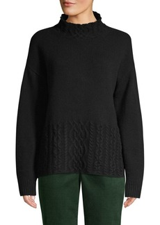 Brooks Brothers Red Fleece Cable-Knit Merino Wool-Blend Sweater