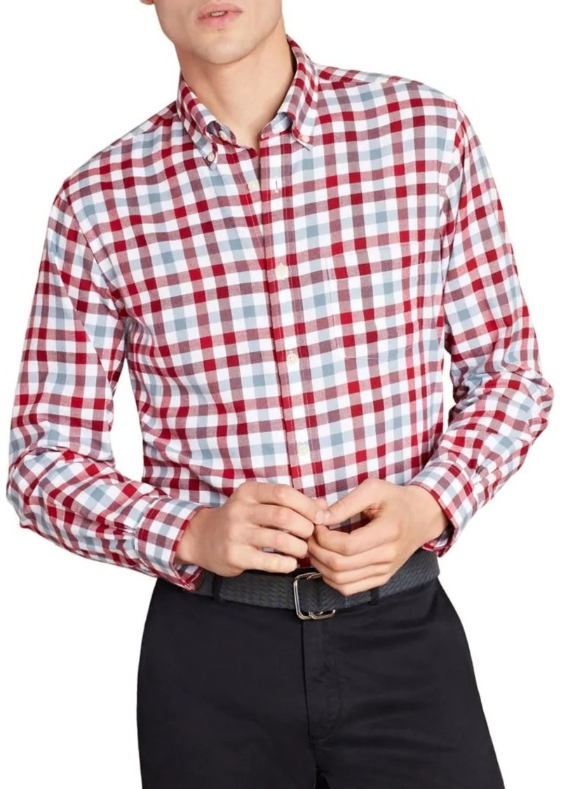 Brooks Brothers Red Fleece Checkered Twill Button-Down Shirt