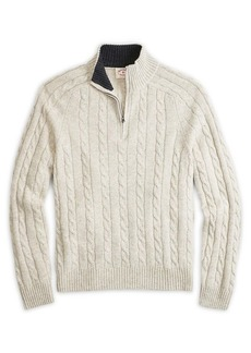 Brooks Brothers Red Fleece Classic Cable-Knit Sweater