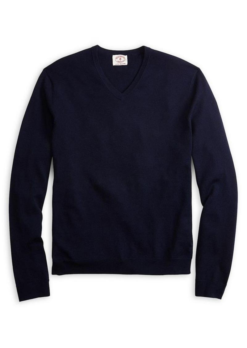 Brooks Brothers Red Fleece Classic Merino Wool Sweater