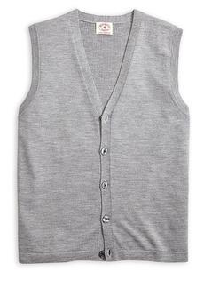 Brooks Brothers Red Fleece Classic Merino Wool Vest