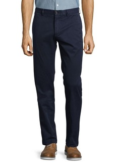 Brooks Brothers Red Fleece Cotton-Blend Straight-Leg Pants