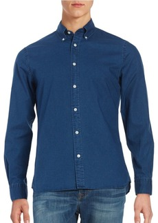 Brooks Brothers Red Fleece Cotton Chambray Sportshirt