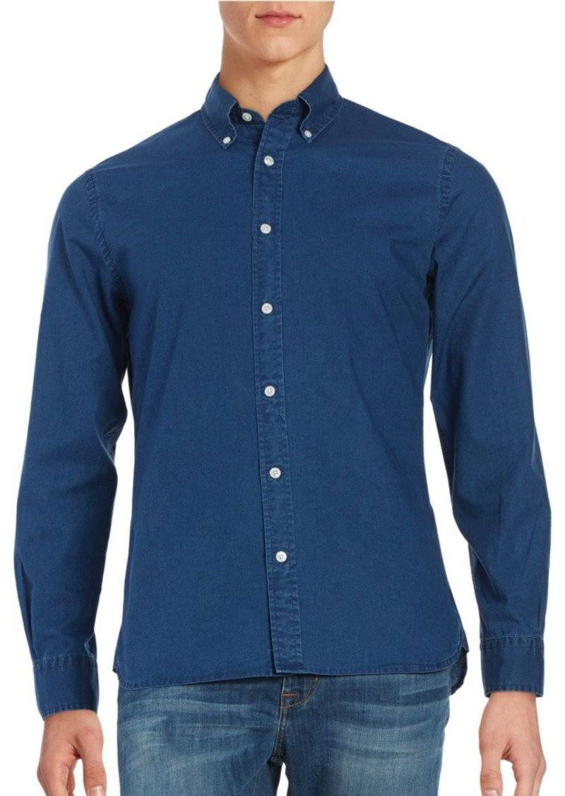 daf239b4113 Brooks Brothers Brooks Brothers Red Fleece Cotton Chambray ...