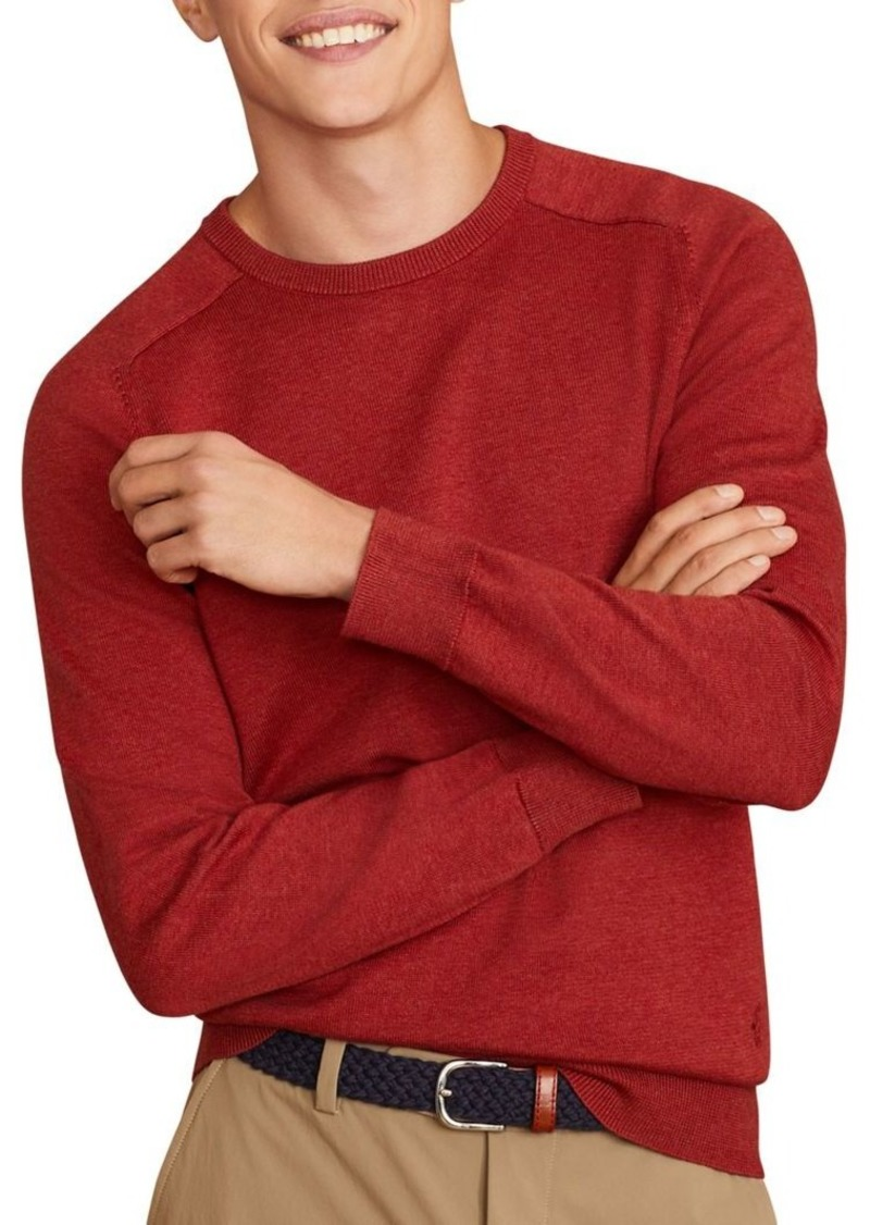Brooks Brothers Red Fleece Cotton Crewneck Sweater