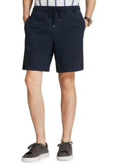 Brooks Brothers Red Fleece Cotton-Linen Drawstring Shorts