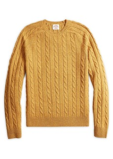 Brooks Brothers Red Fleece Crewneck Cable-Knit Sweater