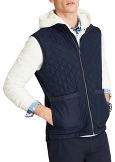 Brooks Brothers Red Fleece Diamond Quilted Vest