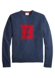 Brooks Brothers Red Fleece Donegal Intarsia B Wool Sweater