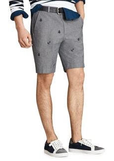 Brooks Brothers Red Fleece Embroidered Chambray Shorts