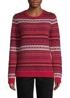 Brooks Brothers Red Fleece Fair Isle Wool-Blend Sweater