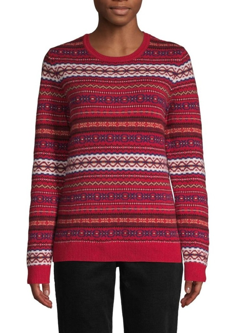 Brooks Brothers Red Fleece Fair Isle Wool-Blend Sweater